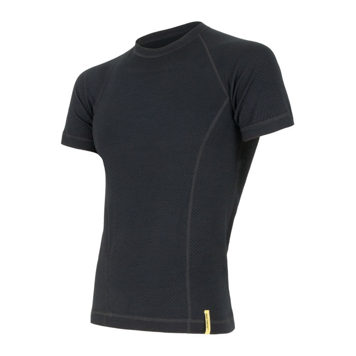 SENSOR MERINO DF TEE SS MEN BLACK