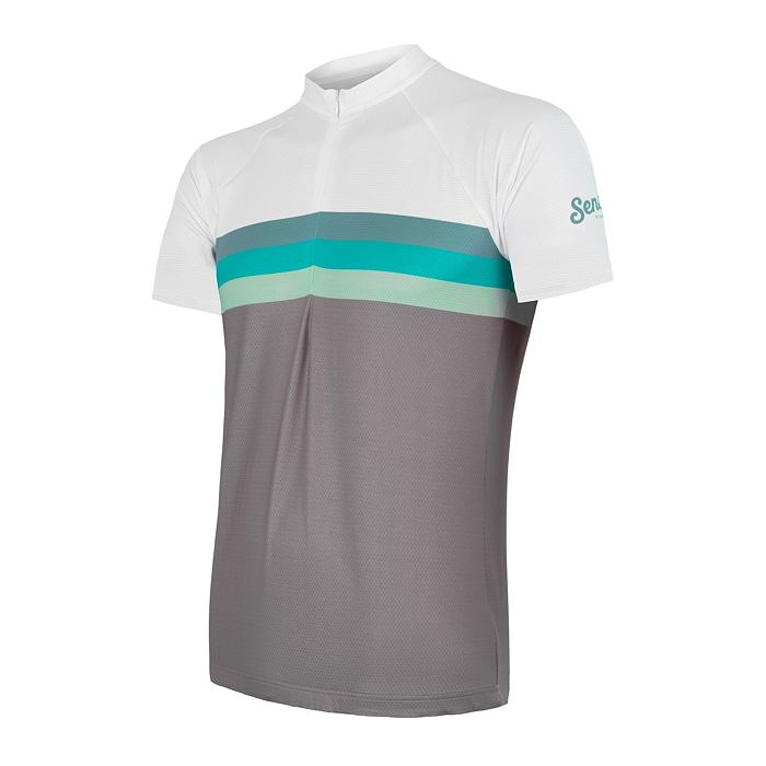SENSOR CYCLE jersey MEN gry/grn SUMMER STRIPE