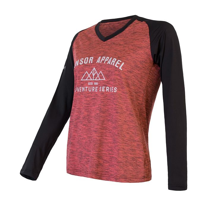 CYCLE jersey LS WOM pink/blk CHARGER