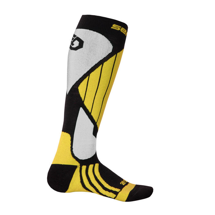 SENSOR SNOW PRO SOCKS BLACK/YELLOW/WHITE